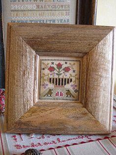 Ewe & Eye & Friends EEF cross stitch Two Birds & A Basket
