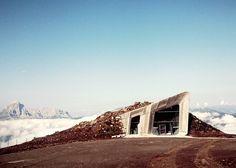Zaha Hadid's Messner Mountain Museum tunnels through a mountain peak!