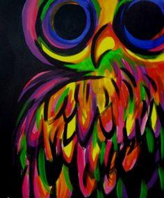 'Neon Owl' by Amanda North