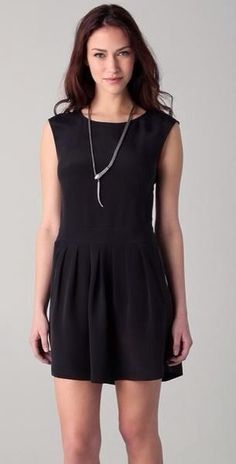 Theory Halleli Glowing Black Sleeveless Silk Dress Women's Size 12 New $355 | eBay