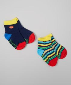 Look what I found on #zulily! Baby Legs Navy Stripe Socks Set by Baby Legs #zulilyfinds
