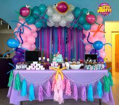 Arco de globos bajo del mar, fiesta de sirenas mermaid Party ideas, under The sea Party decorations, girls Party ideas