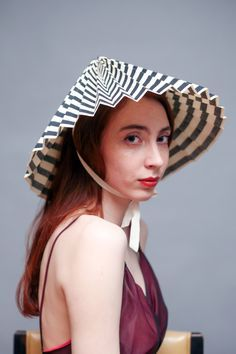 Image result for foldable conical hat Black White Stripes 204fad8a9659