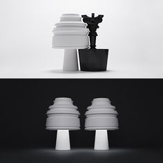 Kartell's Bourgie Lamp Re-imagined by 14 Designers for the 10th Anniversary which will each be auctioned online for charity.   if it's hip, it's here #nendo