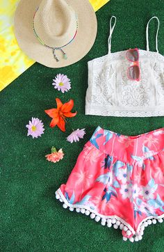 MY DIY | Festival Pom Pom Shorts | I SPY DIY