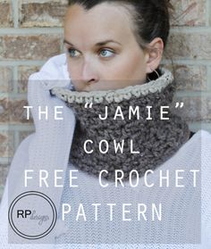 """The """"Jamie"""" Crochet Cowl Pattern - Two Sizes // by Rescued Paw Designs"""