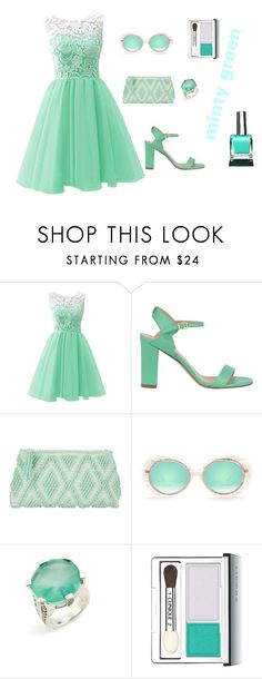 """""""Prom in Mint Green"""" by cynthiahawthorne ❤ liked on Polyvore featuring Twin-Set, Antonello Tedde, Stephen Dweck, Clinique and Urban Outfitters"""