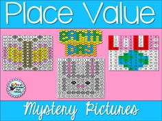 Place value mystery pictures for spring & Earth Day $