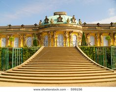 Frederick the Great's Sans Souci Palace in Potsdam, Germany