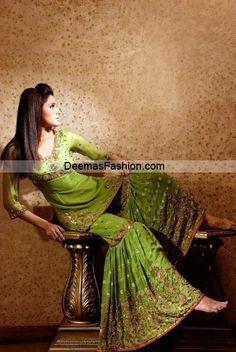 Pakistani Ghagra(Light Green)