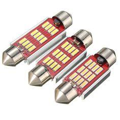 36 39 42mm 12SMD 4014 LED Canbus Error Free Festoon Interior Light Bulb White