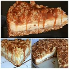 Apple carmel cheesecske
