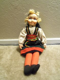Vintage Hilda S. Ege 14 Inch Doll by doyourememberwhen on Etsy