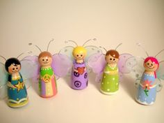Fairy Butterfly / Wooden peg doll / Cake by TheLittleGiftBox, $9.95