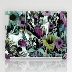 Mrs. Sandman, melting rose skull pattern iPad Case by Kristy Patterson Design - $60.00