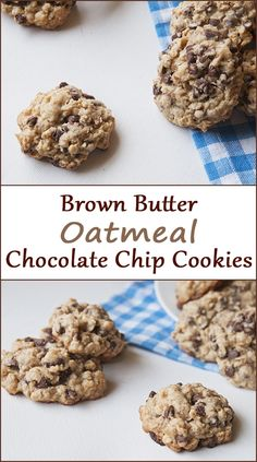 Brown butter oatmeal chocolate chip cookies from www.SeasonedSprinkles.com