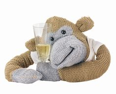 Monkey having champagne Pg Tips, Monkey, Brain, Champagne, Teddy Bear, Dolls, Friends, Character, Animals