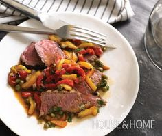 Grilled Sirloin Steaks With Peppers Recipe - House & Home