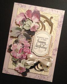 ShabbySweet Lavender Floral Birthday Card by PinkPetalPapercrafts, $7.00
