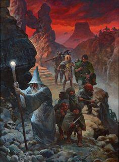 Lord of the Rings Art by Grzegorz Rosinski Jrr Tolkien, Hobbit Art, O Hobbit, Fellowship Of The Ring, Lord Of The Rings, High Fantasy, Fantasy Art, Bd Comics, Sword And Sorcery