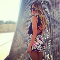 Ripped tank and floral