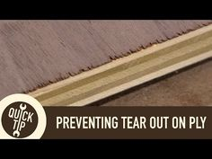 Preventing Tear-out When Crosscutting Plywood - YouTube