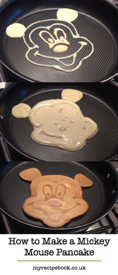 How to make a Mickey Mouse pancake. Including pancake recipe, tips and video.