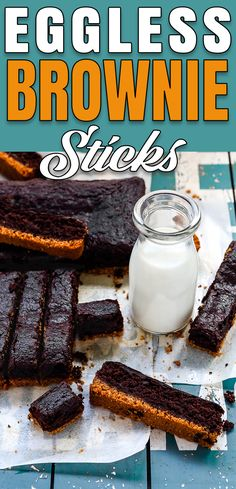 These Eggless Brownies Sticks are intense, fudgy, and have deep to-die-for chocolate flavor! They are easy to make, with a few pantry staples, and are completely eggless. #recipe #eggless #eggfree #brownie #sticks #egglessbaking #eggallergy #fromscratch via @mommyhomecookin Eggless Recipes, Eggless Baking, Vegan Baking, Baking Recipes, Kid Desserts, Healthy Dessert Recipes, Delicious Desserts, Chocolate Flavors, Chocolate Recipes