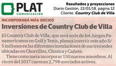 Country Club de Villa: Resultados y proyecciones en el diario Gestión de Perú (22/01/18)