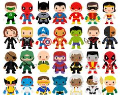 Unique Superhero Clipart Comic Book Digital Clip Art Text