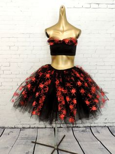 Hey, I found this really awesome Etsy listing at https://www.etsy.com/listing/458106474/witch-costume-spider-tutu-skirt