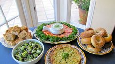 Here is a Yom Kippur break fast menu that can be prepared in advance, chilled, and served later with little or no reheating involved.