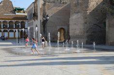 Smart Fountain at Palma del Rio. Spain