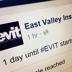 1 day until #EVIT starts! What program are you in? #WeAreEVIT