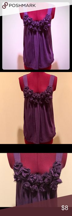 Express Dressy Tank Top Express Tank Top detailed with layers of flower like ruffles on the front.  Size small.  Gently used. Express Tops Tank Tops
