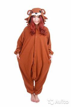 """Кигуруми пижама """"Pedobear"""" Медведь коричневый купить в Санкт-Петербурге на Avito — Объявления на сайте Avito"""