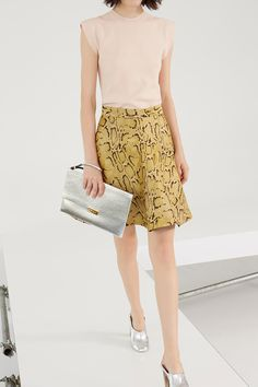 Stella McCartney Resort 2014 | love the pale rose, mustard and silver color combo #new favorite