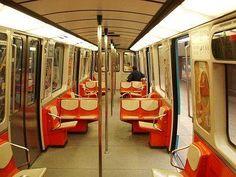 Interior of an old Montreal metro/underground subway. Metro Montreal, Old Montreal, Montreal Ville, Montreal Quebec, Quebec City, Voyage Canada, Expo 67, New Condo, Underground Tube