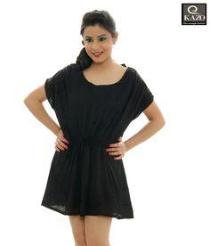 d82b257ffb95 Kazo Ravishing Black One Piece Baggy Black Dress(101709Blackl) - Buy  Women s Dresses