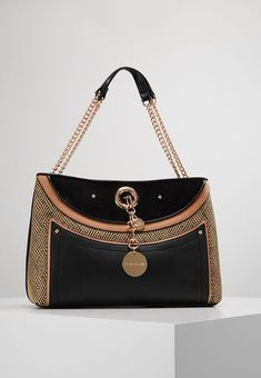 River Island WEAVE CHAIN HANDLE TOTE - Handväska - black - Zalando.se