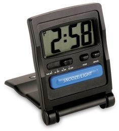 Travel Alarm Clock - Because sometimes your phone alarm just doesn't work. Travel Alarm Clock, Digital Alarm Clock, Rick Steves Travel, Travel Store, Solo Travel, Travel Tips, Future Travel, Travel Accessories, Wonders Of The World