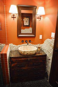 eclectic bathroom by Amy Renea