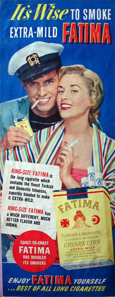 Fatima: the brand that transforms you...into The Captain and Tennille!