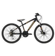 """Crescent Team Junior 24"""" är en 21-växlad  juniorcykel med dämpad framgaffel och ett riktigt tufft utseende! Cykeln har en lätt aluminumram och har dessutom mekaniska skivbromsar"""