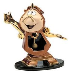 WDCC Disney Classics Beauty And The Beast Cogsworth Just In Time #WDCCDisneyClassics #Art. Clock Hands: Bronze.  Pendulum: Bronze, moveable. Arm Side Pieces: Shiny Gold Paint. Suspended 06/09.