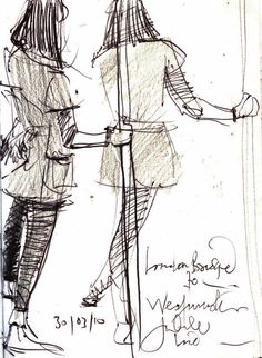 2 new sketches of lady standing on the tube