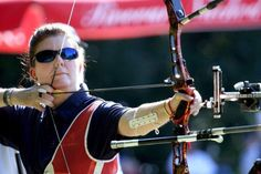 The precision of this #archer is amazing. Did we mention she is blind? #archery