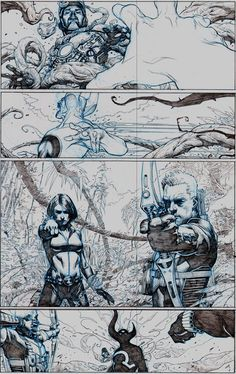 First Look: The Avengers # 1 Art Intérieur par Jérôme Opena - Avengers - Comic Vine Comic Book Layout, Comic Book Pages, Comic Book Artists, Comic Artist, Comic Books Art, Storyboard, Art And Illustration, Fantasy Kunst, Fantasy Art
