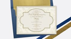 First Holy Communion Invitation for adults or children by Silently Screaming Designs
