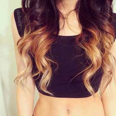 Brown ombre hair- been debating about whether I want one or not...
